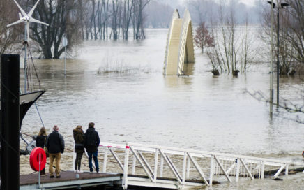 Hoogwater in Nijmegen 2018